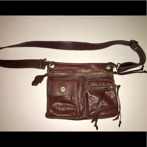"Roots leather ""Village"" purse"